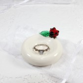 Ladybug engagement ring holder