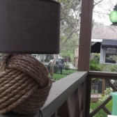 Nautical Decor - One knotty lamp - with white or brown shade