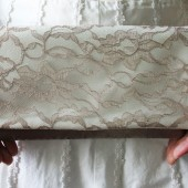 Latte Lace Clutch