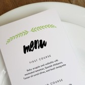 Wedding Menu Template - Laurel