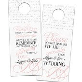 Lauren – Confetti & Flourishes Wedding Door Hangers