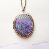 Lavender Fields Locket