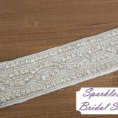 Lexie Bridal Sash - SparkleSM Bridal Sashes