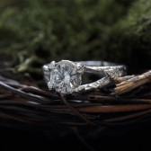Branch leaf engagement ring