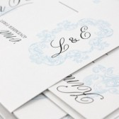 Ornate flourish wedding invitation – Lilah