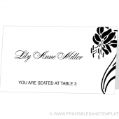 Place Card Template - Lily Design