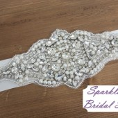 LIsa Bridal Sash - SparkleSM Bridal Sashes