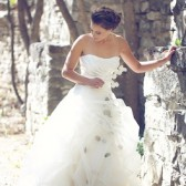 Aspen Leaf Wedding Gown
