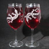 Lizard Wine Glasses Desert Wedding