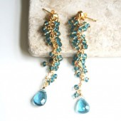 Long Blue Luxe Earrings