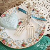 Wedding Cake Forks {Antique}
