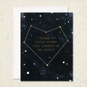Thank My Lucky Stars for You Card