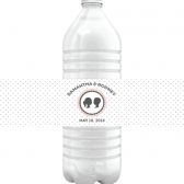 Love Story Polka Dot Water Bottle Labels