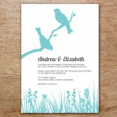 Love Birds Printable Wedding Invitation