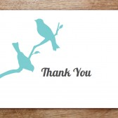 Love Birds Printable Thank You Card