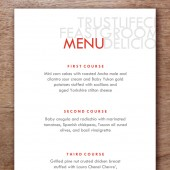 Love and Happiness Printable Wedding Menu