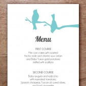 Love Birds Printable Wedding Menu