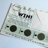 Lucky In Love Scratch Off Save The Dates