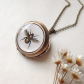 Golden Honey Bee Locket