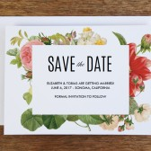 Printable Save the Date Template - Lush Florals