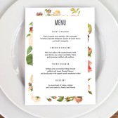 Wedding Menu Template - Lush Florals