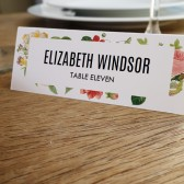 Escort Card Template - Lush Florals