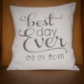Best Day Ever custom pillow cover