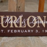 Personalized wood family sign with names and established date - personalized - custom wood sign in colors of your choice