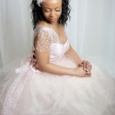 Silk and Polka Dot Tulle Bridal Top
