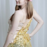 Satin and Sequin Low Back Corset Top
