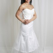 Fit and Flare Satin and Tulle Bridal Skirt