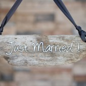Just Married Wedding Sign, Driftwood Sign, Rustic Modern Wedding Sign, Beach Wedding Sign, Photo Prop, Wood Burned Sign on Driftwood, OOAK