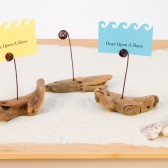 Driftwood Place Card Holders, Wedding Favors, Escort Card, Buffet Marker,