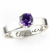 "Harry Potter ""Until the Very End"" Engagement Ring"
