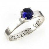 "Doctor Who ""My Impossible Girl"" Engagement Ring"