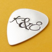 Love Initials Guitar Pick