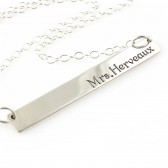 Married Name Bar Necklace