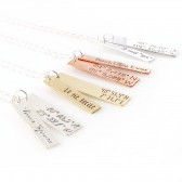 Latitude & Longitude Cluster Necklace