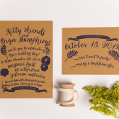 Summer Garden Letterpress Wedding Invitation