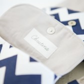 Personalized Navy Chevron Clutch