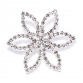 MODERN DIAMANTE FLOWER BROOCH 403