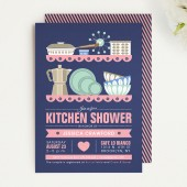 Mid Century Modern Kitchen Bridal Shower Invitation