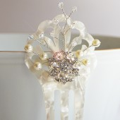 Swarovski Mother of Pearl Vintage Hair Comb