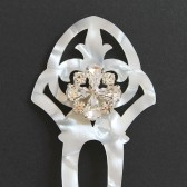 Art Nouveau Mother of Pearl Hair Comb