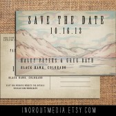 Rustic Mountains Save the Date