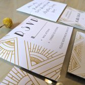 art deco, art deco wedding rsvp card, gatsby, gatsby wedding invitations, boho gatsby, cream, gold, cream and gold, gold rsvp,