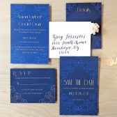 art deco, blue and gold, blue, gold, vintage, gatsby wedding invitations, art deco wedding invitations, blue wedding invitations, blue and gold wedding invitations, vintage wedding invitations