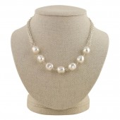 'Madeline' Silver Pearl Necklace