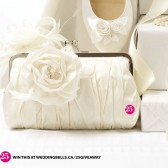 ROSE ICEBURG CLUTCH : IVORY {MORE COLOURS}