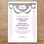 Manor Printable Wedding Invitation